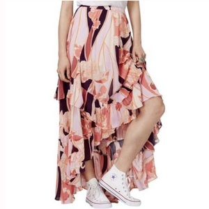 NWT Free People Bring Back the Summer Maxi Skirt